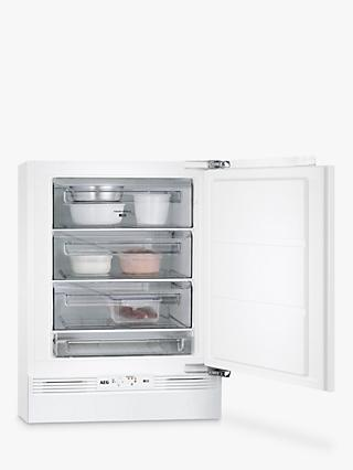 AEG ABE6822VAF Built-Under Freezer, A++ Energy Rating, 60cm Wide, White