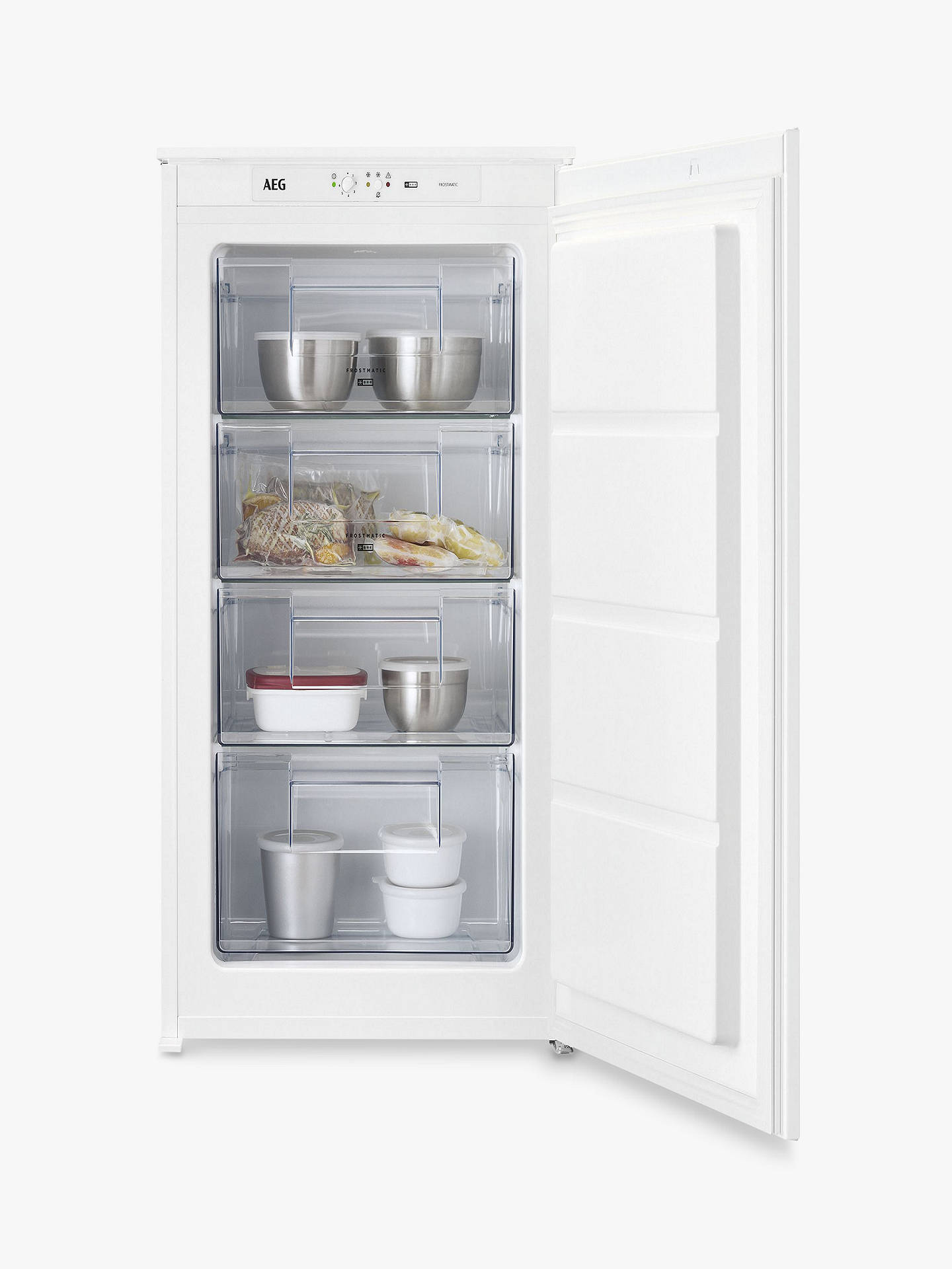 Buy AEG ABE6882VLS Integrated Freezer, A+ Energy Rating, 54cm Wide, White Online at johnlewis.com