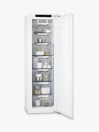 AEG ABS8182VNC Integrated Tall Freezer, A++ Energy Rating, 56cm Wide, White