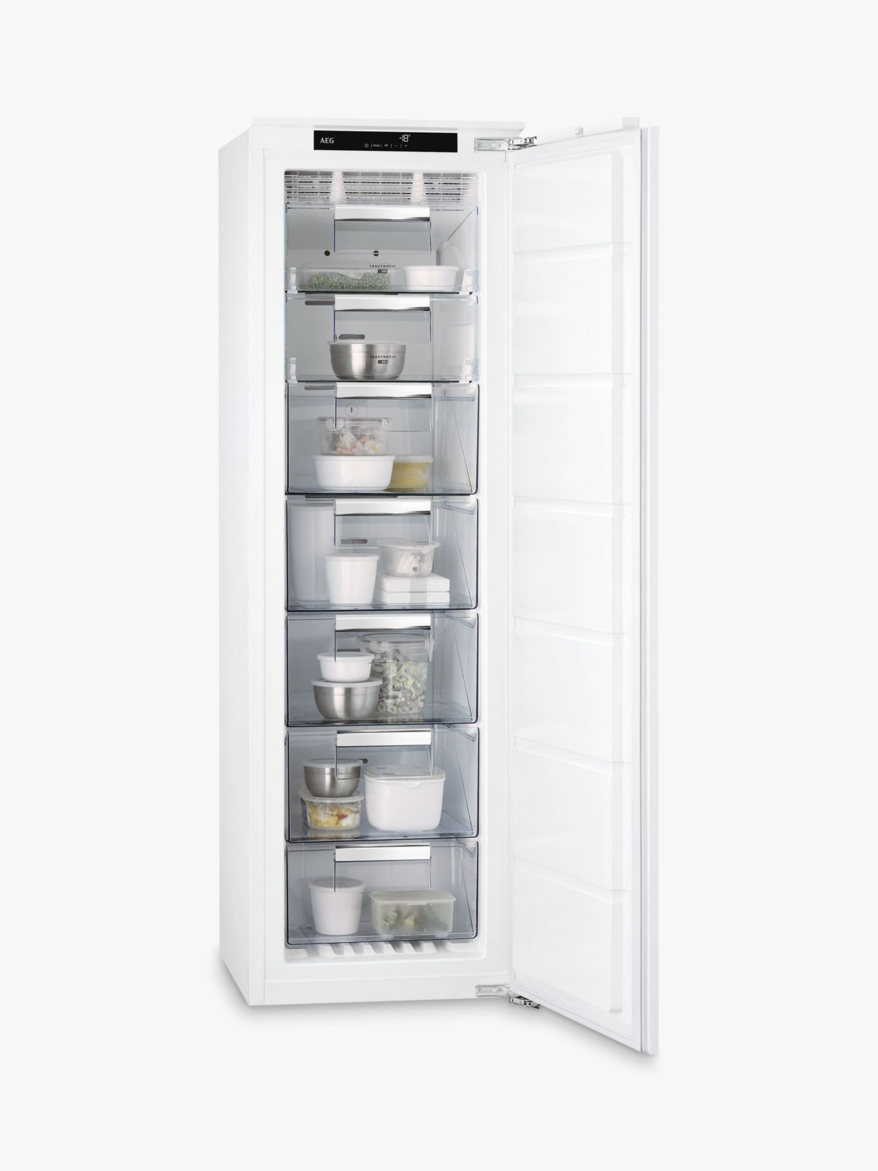 AEG AEG ABS8182VNC Integrated Tall Freezer, A++ Energy Rating, 56cm Wide, White