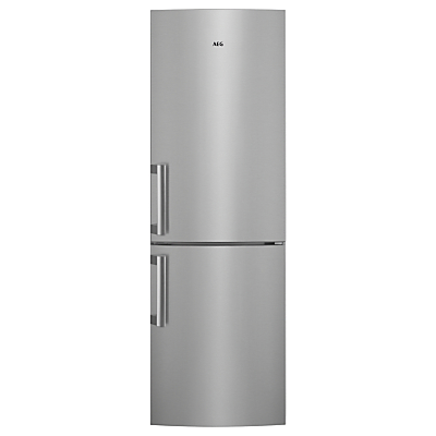 AEG RCB53325VX Freestanding CustomFlex Fridge Freezer, A++ Energy Rating, 60cm Wide, Silver