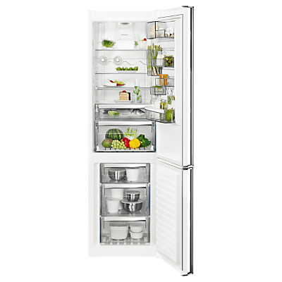 AEG RCB83724VW Freestanding CustomFlex Fridge Freezer, A++ Energy Rating, 64cm Wide, White