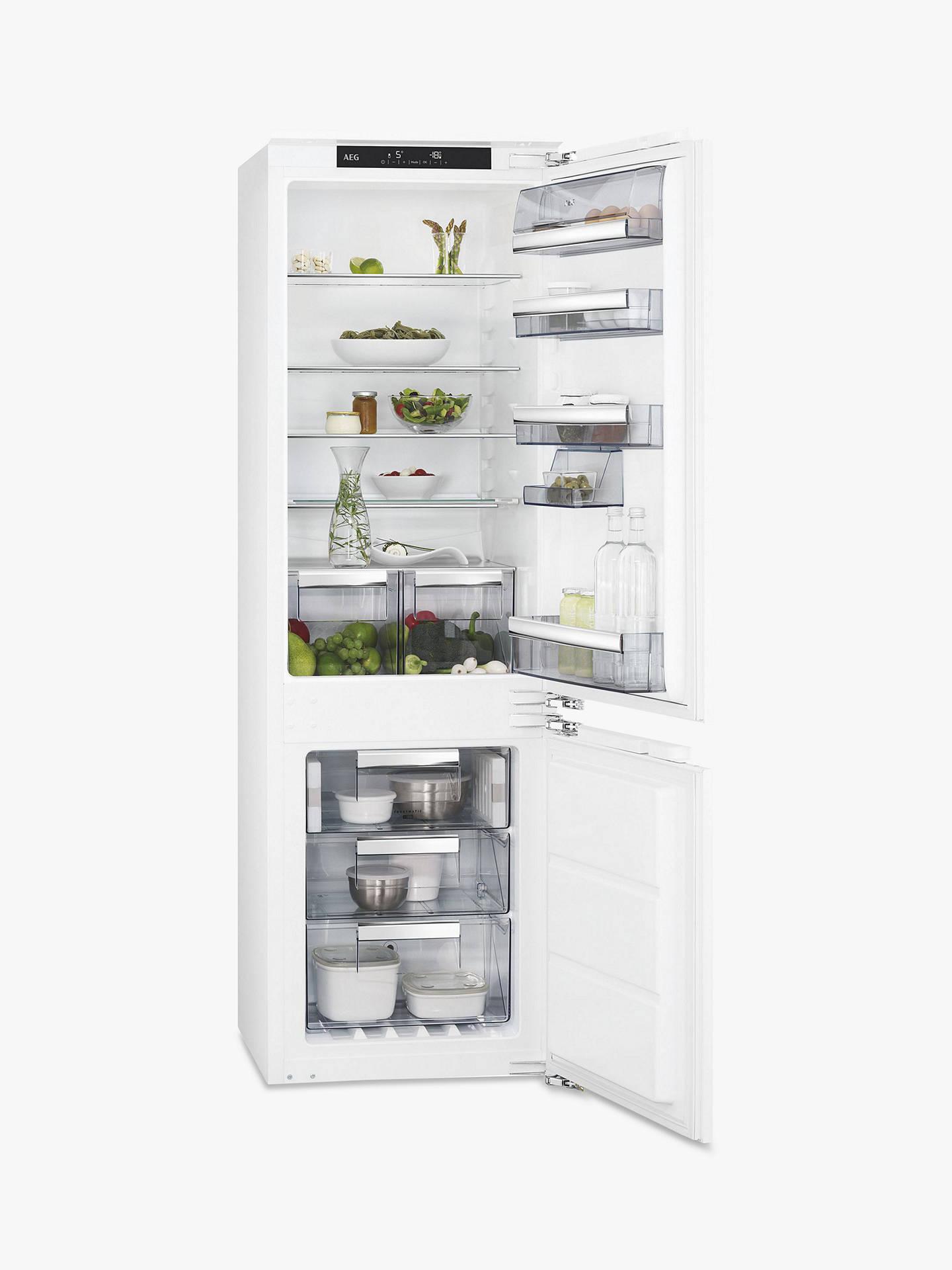 b31f32df161e Buy AEG SCE8182XNC Integrated Fridge Freezer, A++ Energy Rating, 56cm Wide,  White Online ...