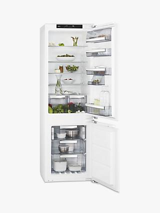 AEG SCE8182XNC Integrated 70/30 Fridge Freezer, Fixed Door Hinge, A++ Energy Rating, 56cm Wide, White