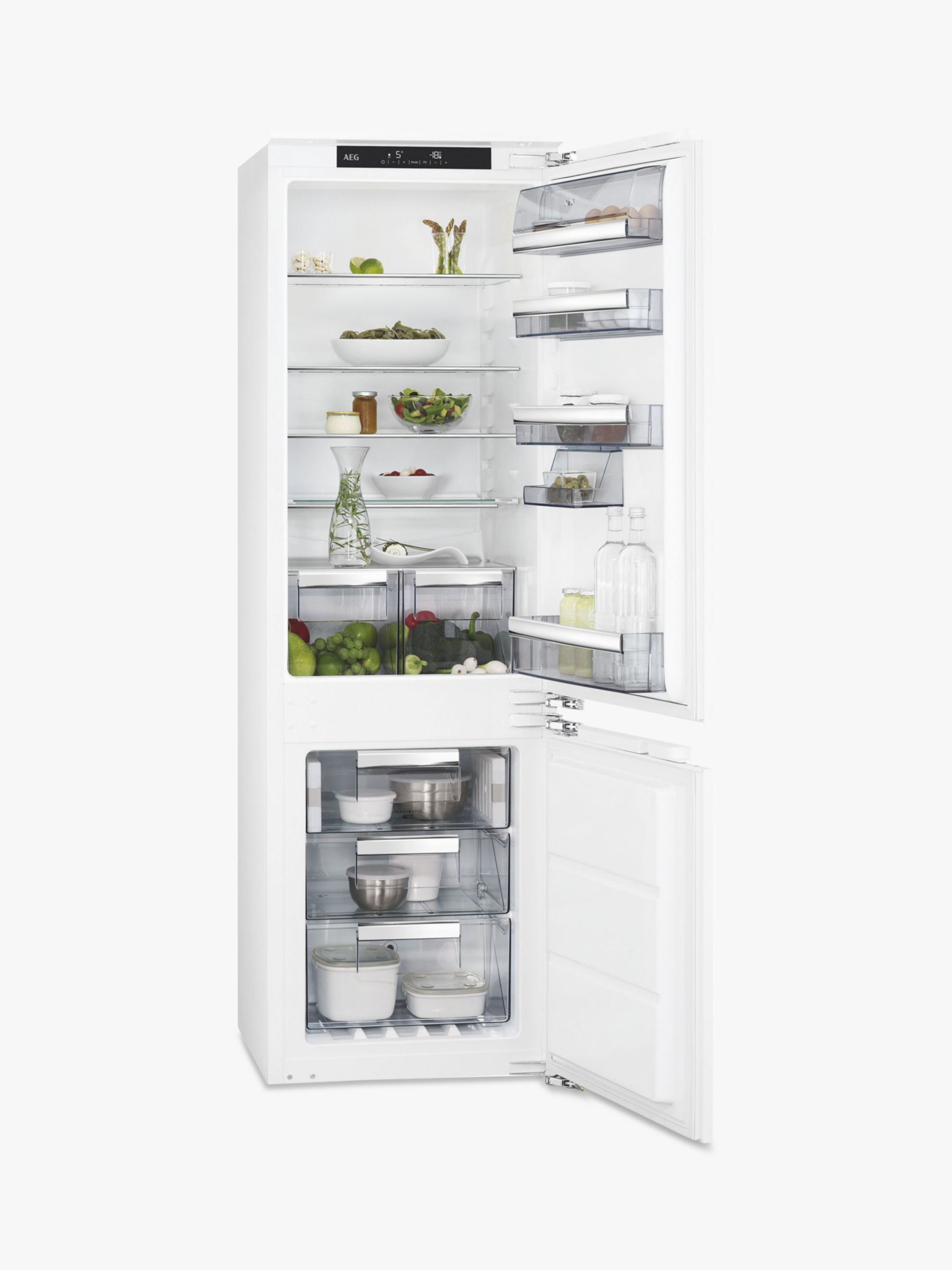 AEG AEG SCE8182XNC Integrated Fridge Freezer, A++ Energy Rating, 56cm Wide, White