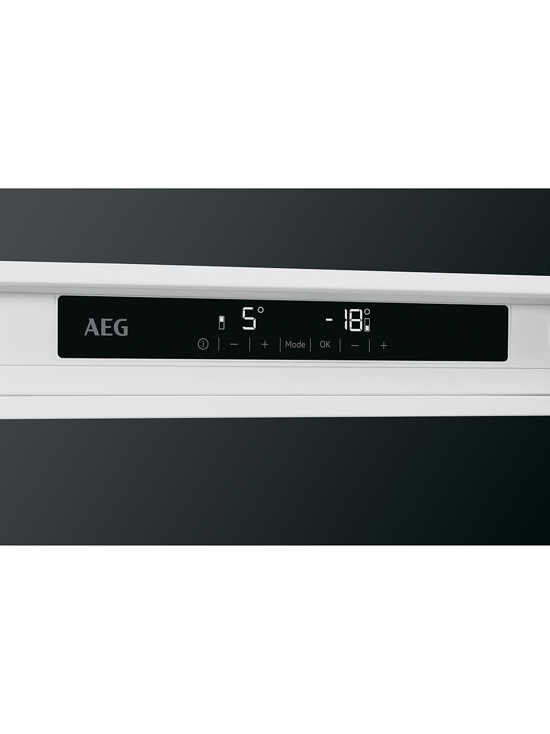 Buy AEG SCE8182XNC Integrated 70/30 Fridge Freezer, Fixed Door Hinge, A++ Energy Rating, 56cm Wide, White Online at johnlewis.com