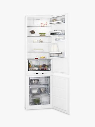 AEG SCE8191VTS Integrated 70/30 Fridge Freezer, Sliding Door Hinge, A+ Energy Rating, 54cm Wide, White