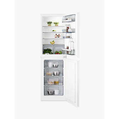 AEG SCB6181VLS Integrated Fridge Freezer, A+ Energy Rating, 55cm Wide, White