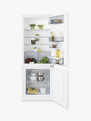 AEG SCB5142VLS Integrated 70/30 Fridge Freezer, Sliding Door Hinge, A++ Energy Rating, 54cm, White