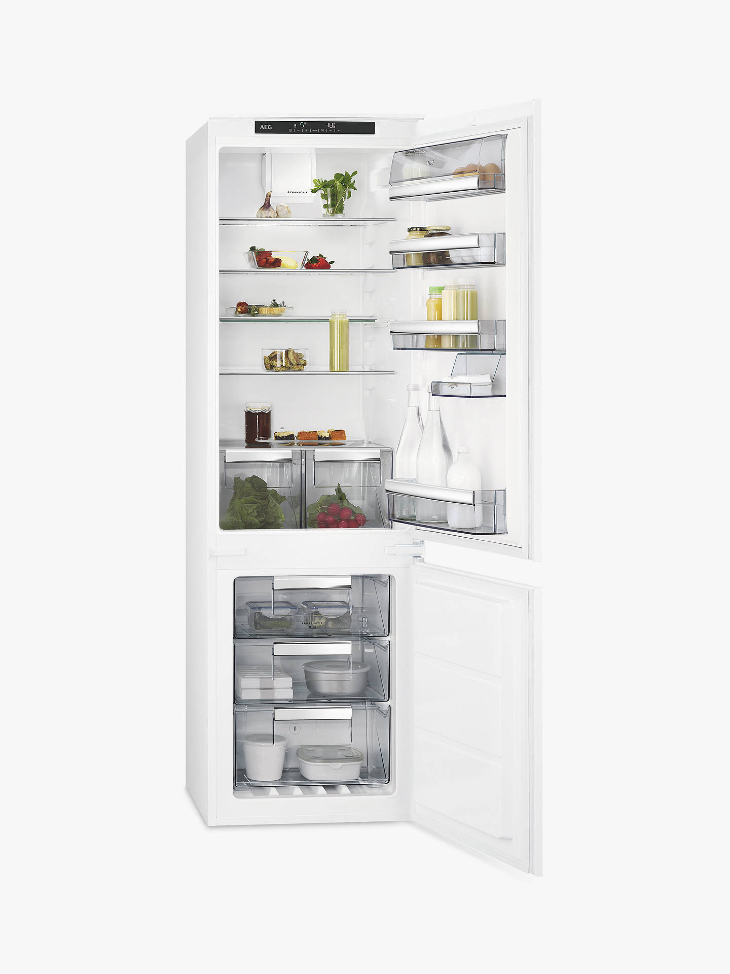 BuyAEG SCE8181VTS Integrated Fridge Freezer, A+ Energy Rating, 54cm Wide, White Online at johnlewis.com