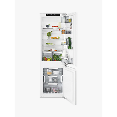 AEG SCE8182VNC Integrated Fridge Freezer, A++ Energy Rating, 56cm Wide, White