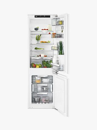 AEG SCE8182VNC Integrated 70/30 Fridge Freezer, Fixed Door Hinge, A++ Energy Rating, 56cm Wide, White