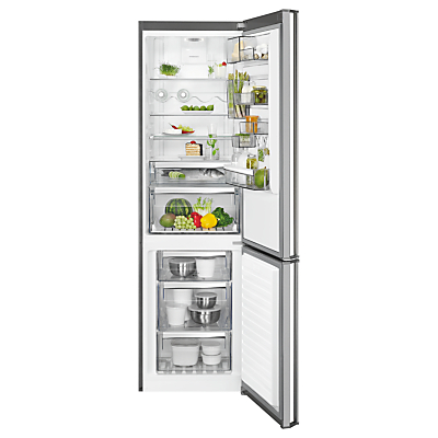 AEG RCB83724VX Freestanding CustomFlex Fridge Freezer, A++ Energy Rating, 60cm Wide, Silver