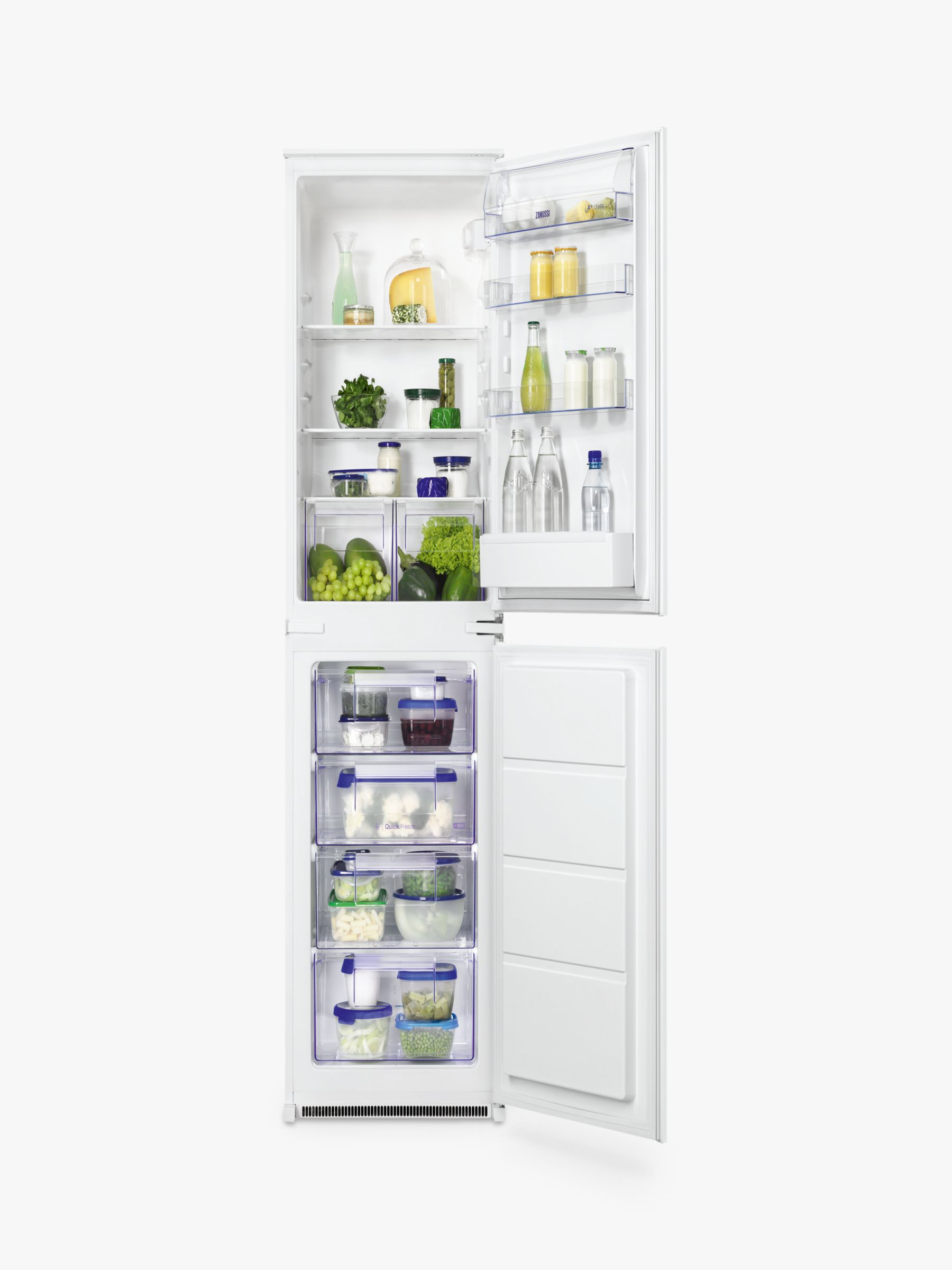 Zanussi Zanussi ZBB27450SV Integrated Fridge Freezer, A+ Energy Rating, 54cm Wide