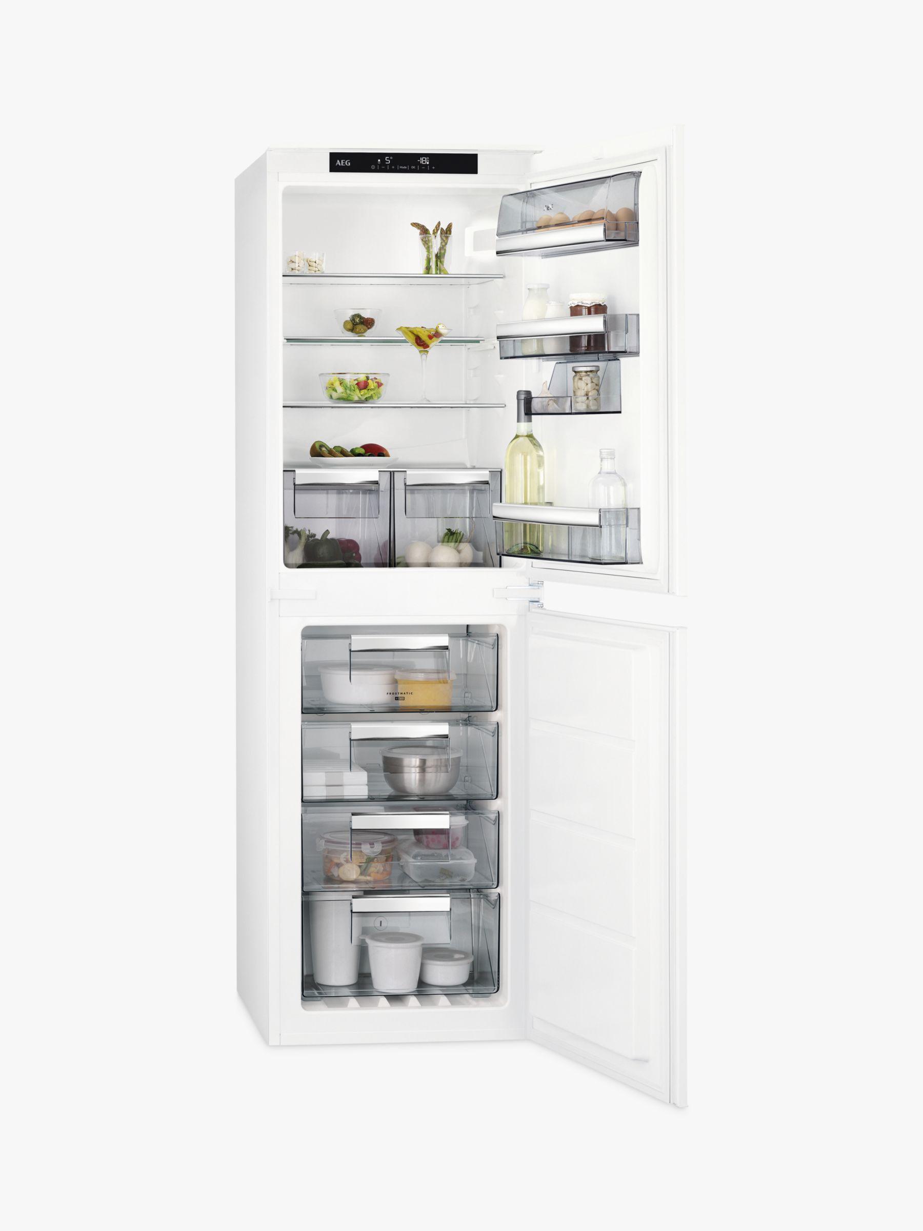 AEG AEG SCE8181VNS Integrated Fridge Freezer, A+ Energy Rating, 54cm Wide, White