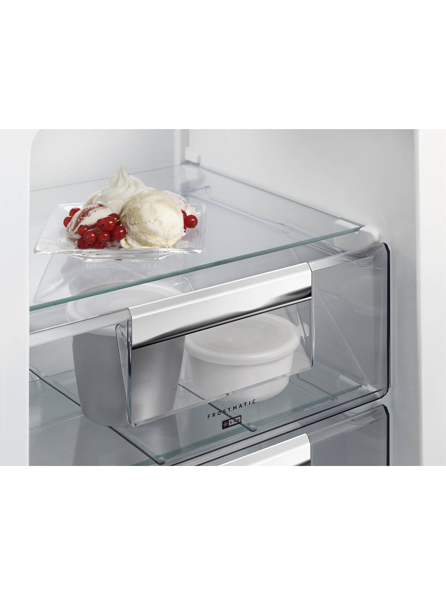 BuyAEG SCE8181VNS Integrated Fridge Freezer, A+ Energy Rating, 54cm Wide, White Online at johnlewis.com