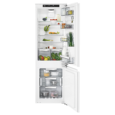 AEG SCE8186VTC Integrated Fridge Freezer, A+++ Energy Rating, 56cm Wide, White