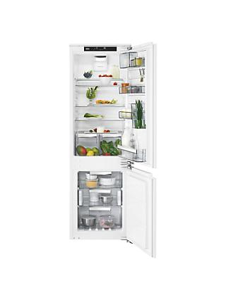 AEG SCE8186VTC Integrated 70/30 Fridge Freezer, Fixed Door Hinge, A+++ Energy Rating, 56cm Wide, White