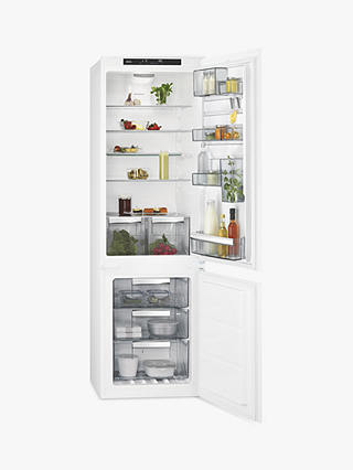 Buy AEG SCE8182VTS Integrated Fridge Freezer, A++ Energy Rating, 54cm Wide, White Online at johnlewis.com