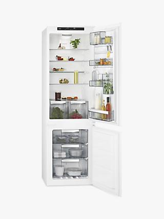 AEG SCE8182VTS Integrated Fridge Freezer, A++ Energy Rating, 54cm Wide, White