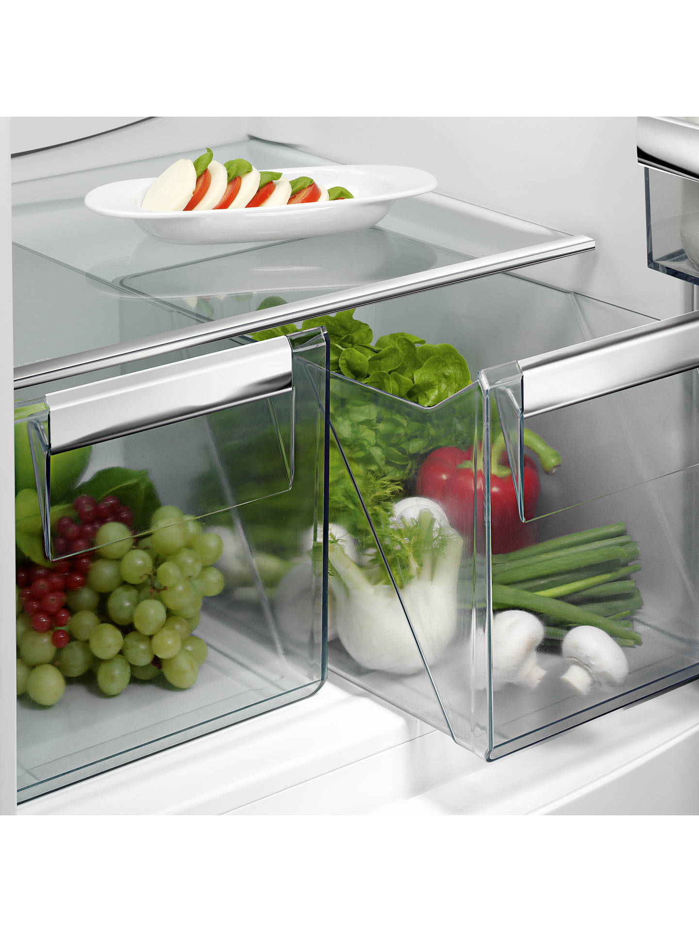 BuyAEG SCE8182VTS Integrated Fridge Freezer, A++ Energy Rating, 54cm Wide, White Online at johnlewis.com
