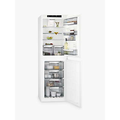 AEG SCE8182XTS Integrated Fridge Freezer, A++ Energy Rating, 54cm Wide, White