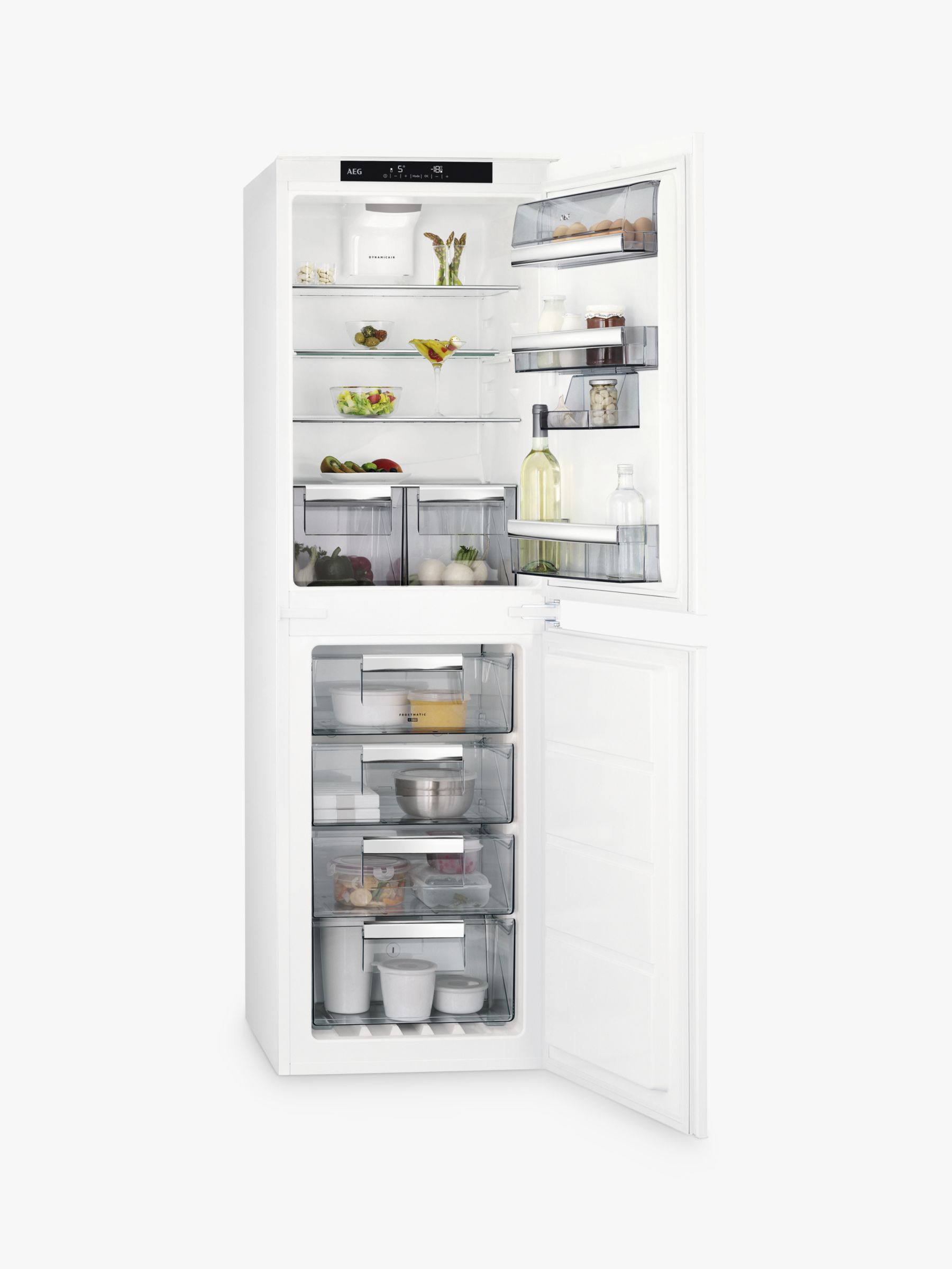 AEG AEG SCE8182XTS Integrated Fridge Freezer, A++ Energy Rating, 54cm Wide, White