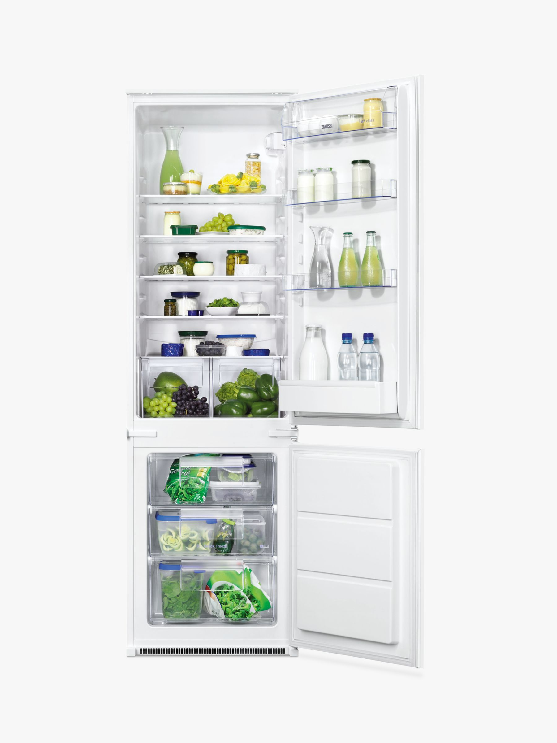 Zanussi Zanussi ZBB28441SV Integrated Fridge Freezer, A+ Energy Rating, 54cm Wide