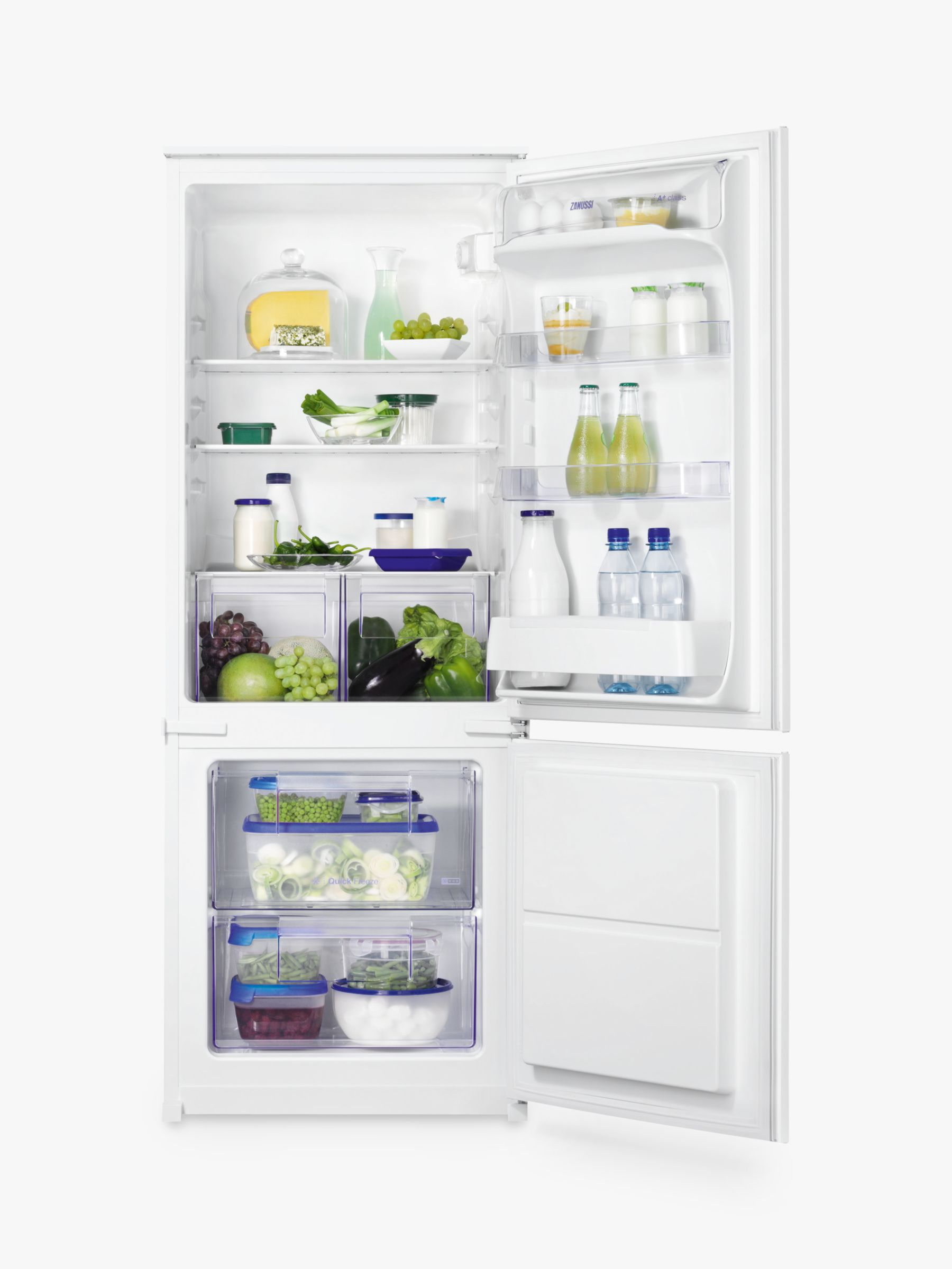 Zanussi Zanussi ZBB24431SV Integrated Fridge Freezer, A+ Energy Rating, 54cm Wide