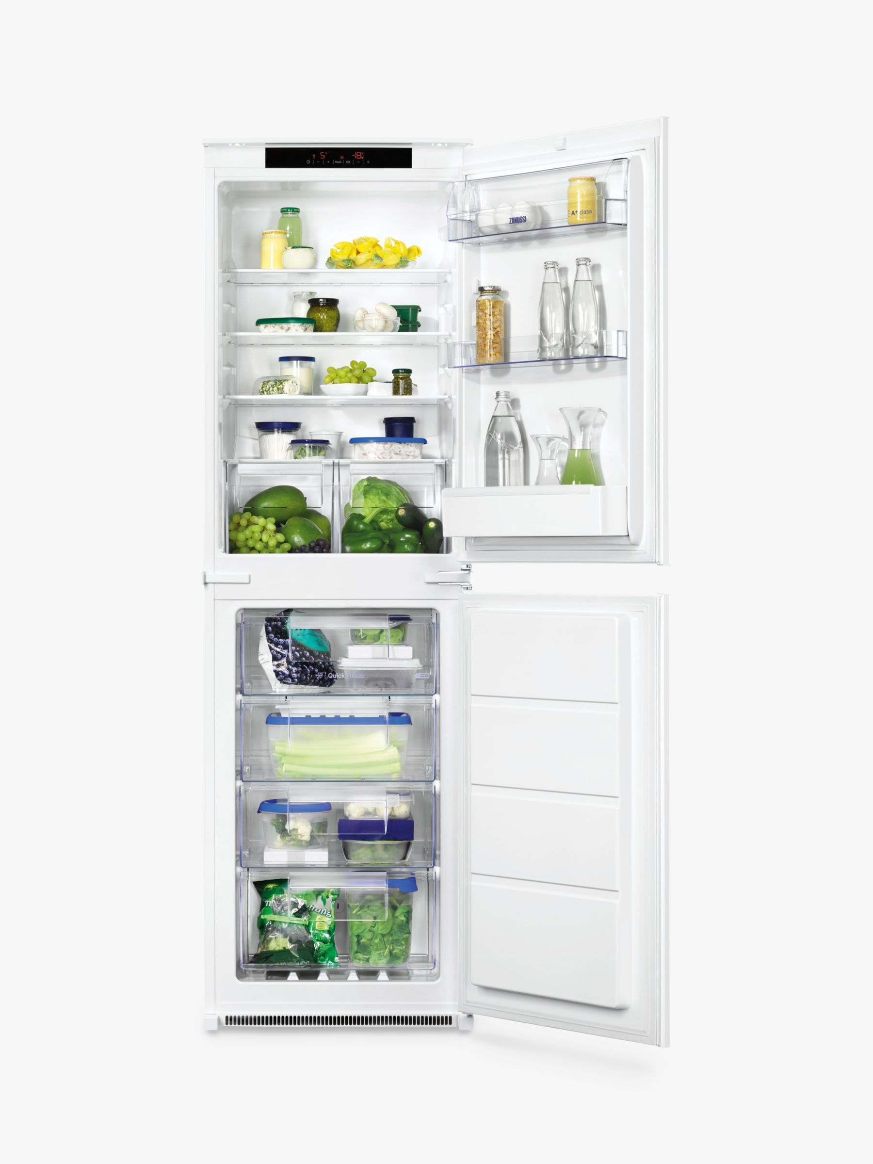 Zanussi Zanussi ZBB27650SV Integrated Fridge Freezer, A+ Energy Rating, 54cm Wide