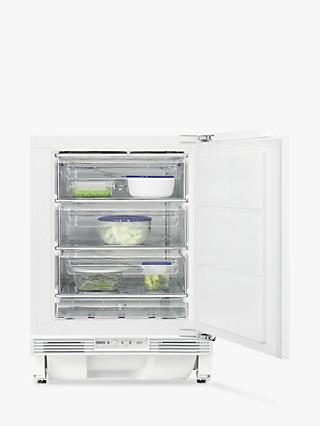 Zanussi ZQF11431DV Integrated Undercounter Freezer, A+ Energy Rating, 60cm Wide, White