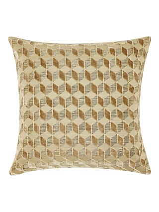John Lewis & Partners Hanover Velvet Cushion, Gold