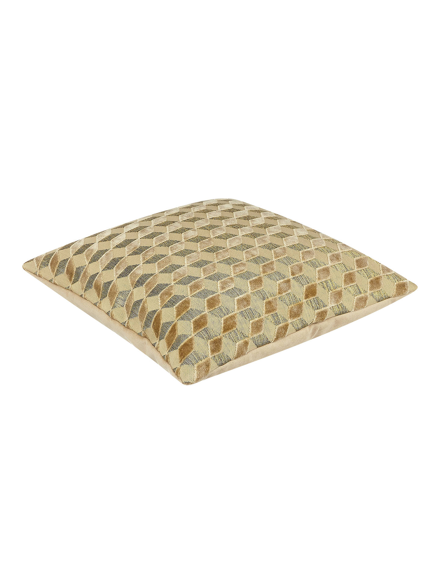 Buy John Lewis & Partners Hanover Velvet Cushion, Gold Online at johnlewis.com