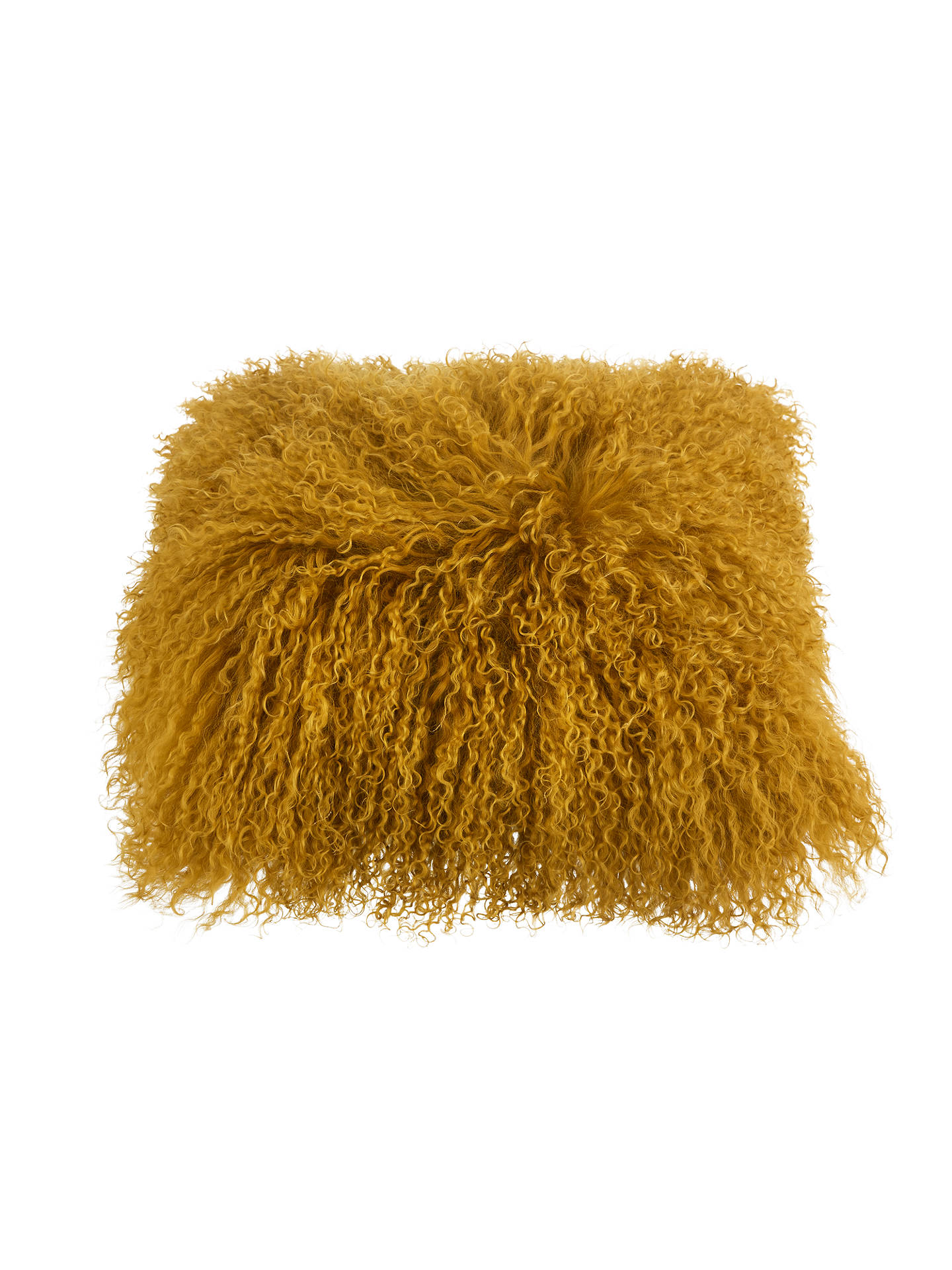 Buy John Lewis & Partners Mongolian Sheepskin Cushion, Tiger's Eye Online at johnlewis.com