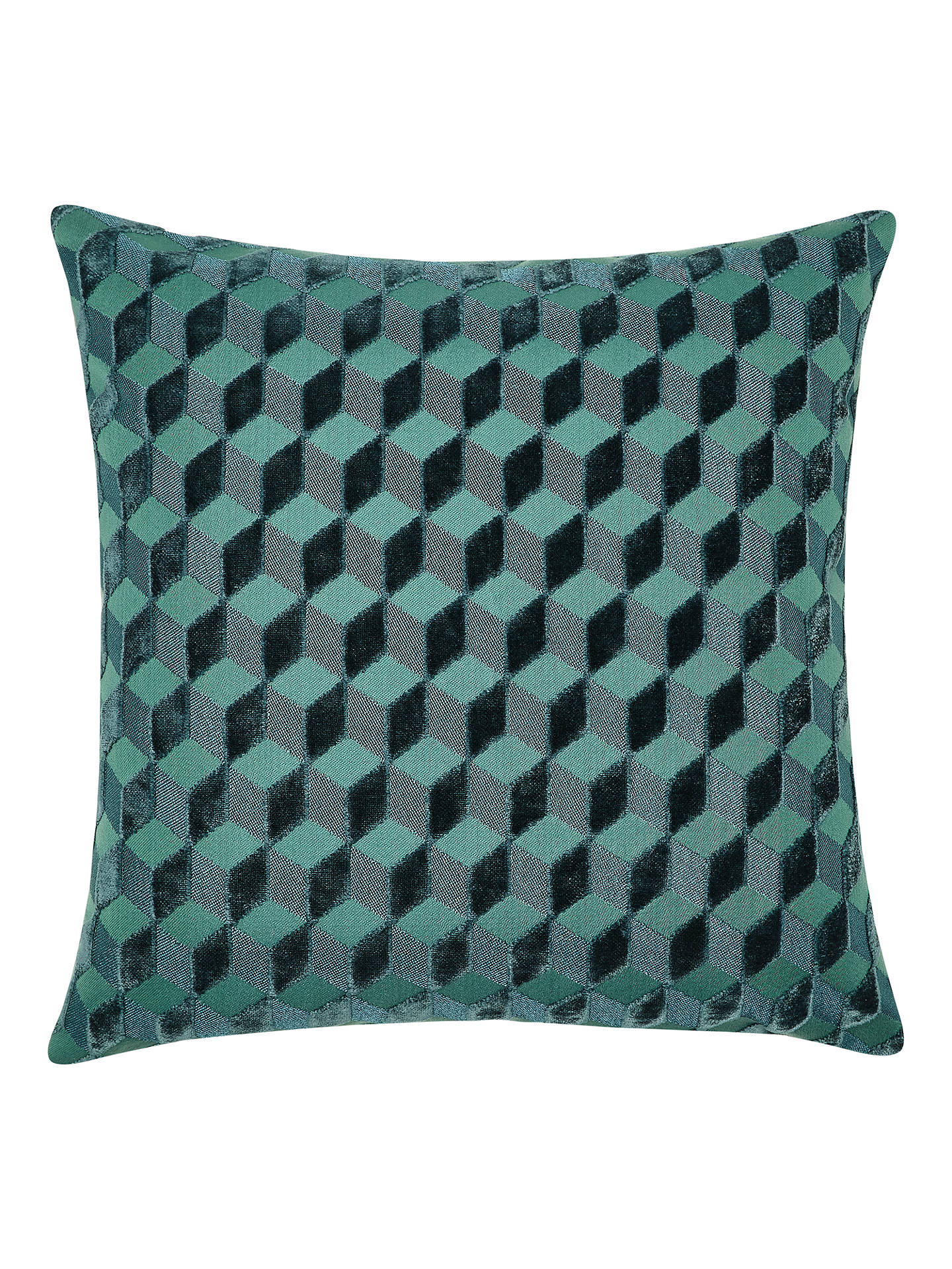 BuyJohn Lewis & Partners Hanover Velvet Cushion, Teal Online at johnlewis.com