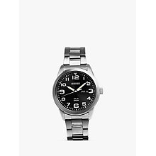 Buy Seiko SNE471P1 Men's Conceptual Day Date Bracelet Strap Watch, Silver/Black Online at johnlewis.com