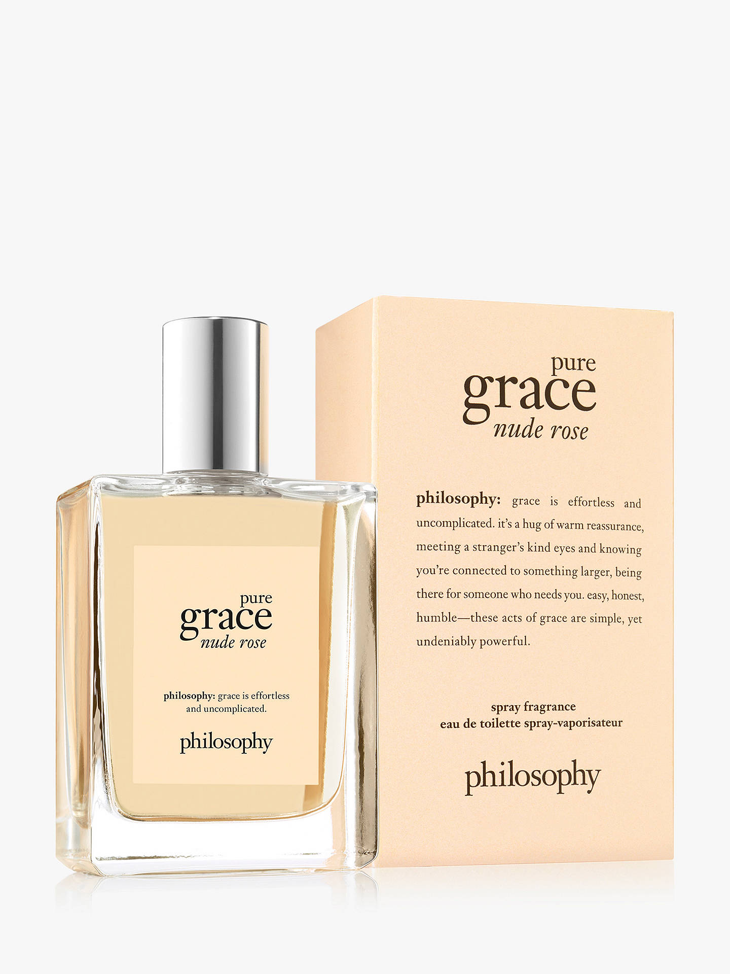 BuyPhilosophy Pure Grace Nude Rose Eau de Toilette, 60ml Online at johnlewis.com