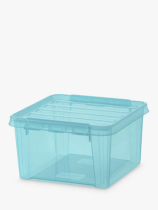 Buy SmartStore by Orthex 12 Plastic Storage Box, Aquamarine Online at johnlewis.com