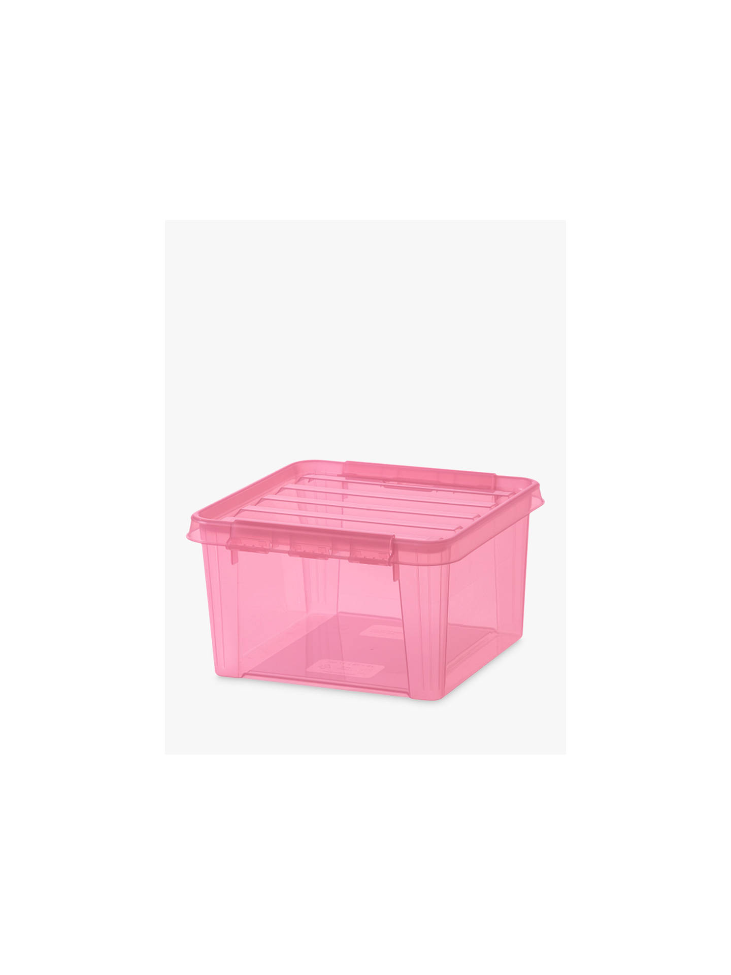 BuySmartStore by Orthex 12 Plastic Storage Box, Rose Online at johnlewis.com