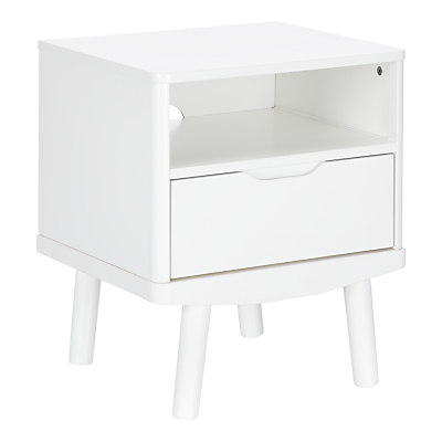 House by John Lewis Bow 1 Drawer Bedside Table