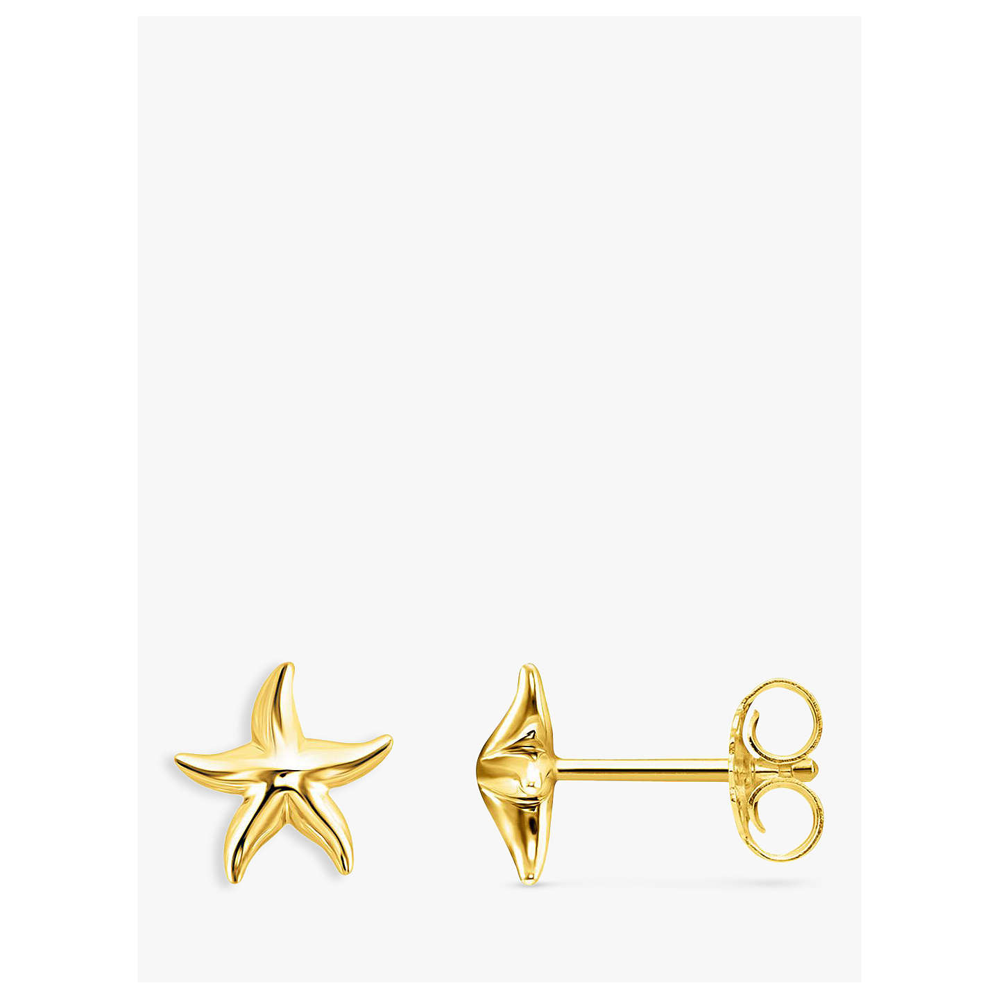 stud starfish earrings gold claire rose studded s crystal