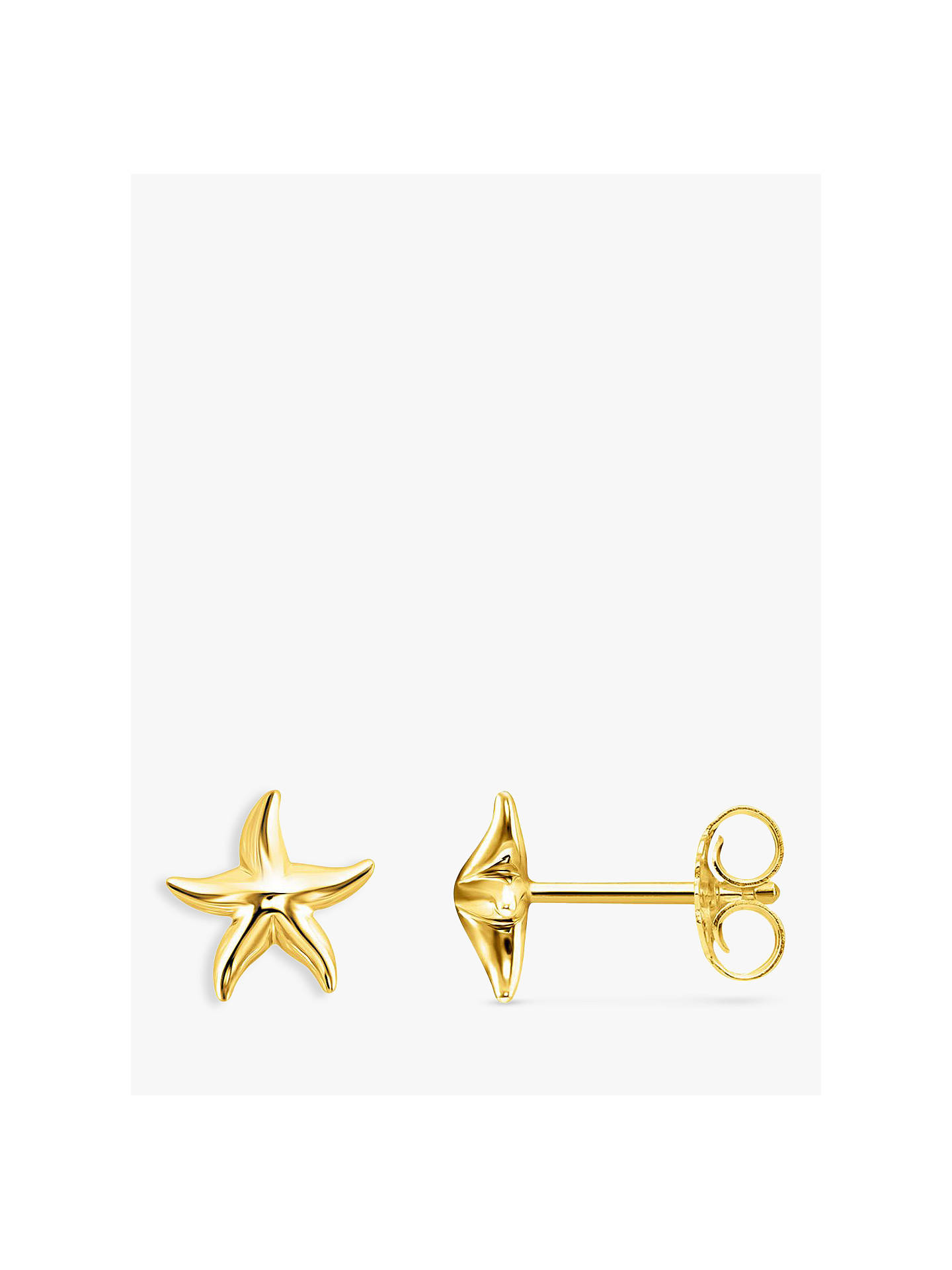 Thomas Sabo Starfish Stud Earrings Gold Online At Johnlewis