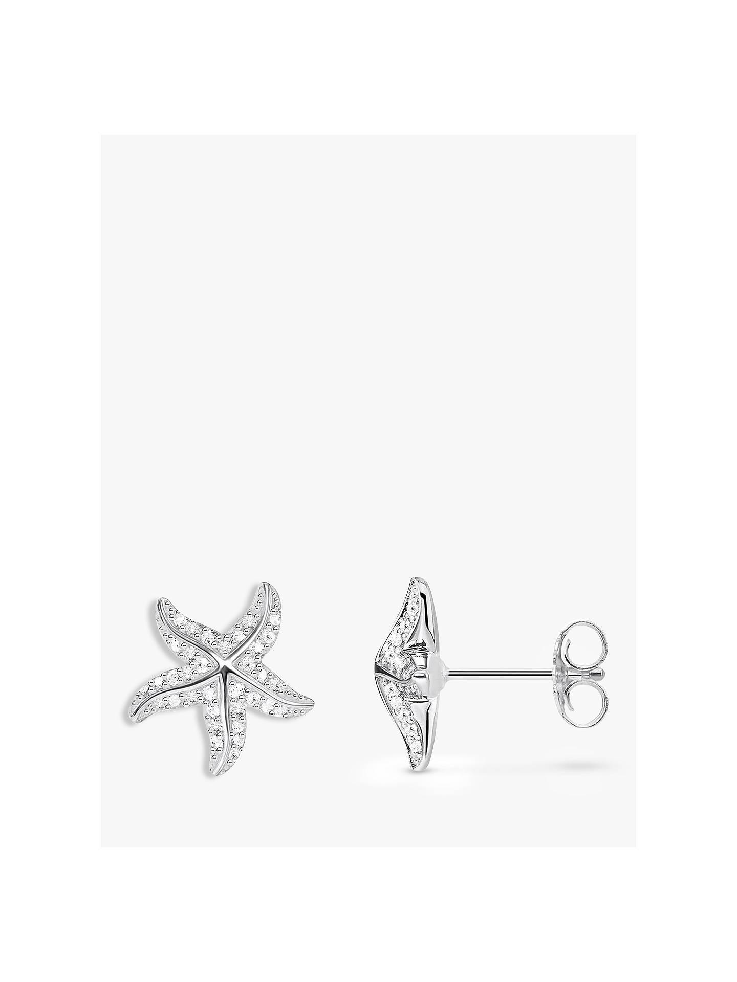 Thomas Sabo Cubic Zirconia Starfish Stud Earrings Silver Online At Johnlewis