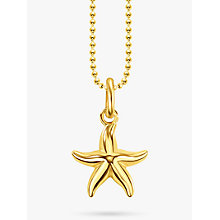 Buy THOMAS SABO 18ct Gold Vermeil Starfish Pendant Necklace, Gold Online at johnlewis.com