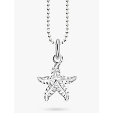 Buy THOMAS SABO Starfish Cubic Zirconia Pendant Necklace, Silver Online at johnlewis.com