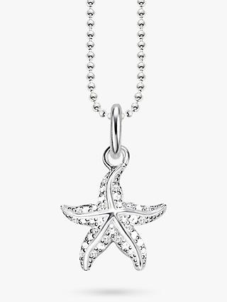 THOMAS SABO Starfish Cubic Zirconia Pendant Necklace, Silver