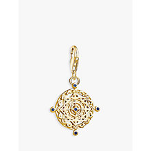 Buy THOMAS SABO Charm Club 18ct Gold Compass Charm, Gold Online at johnlewis.com
