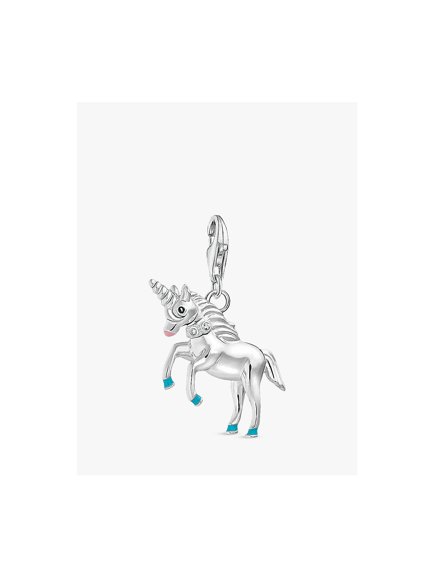 Buy THOMAS SABO Charm Club Unicorn Charm, Silver Online at johnlewis.com