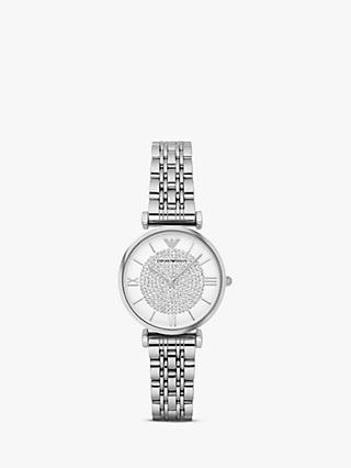 190f662bd35 Emporio Armani AR1925 Women s Crystal Bracelet Strap Watch