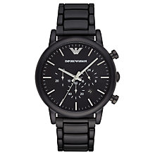 Buy Emporio Armani AR1895 Men's Chronograph Date Bracelet Strap, Black Online at johnlewis.com